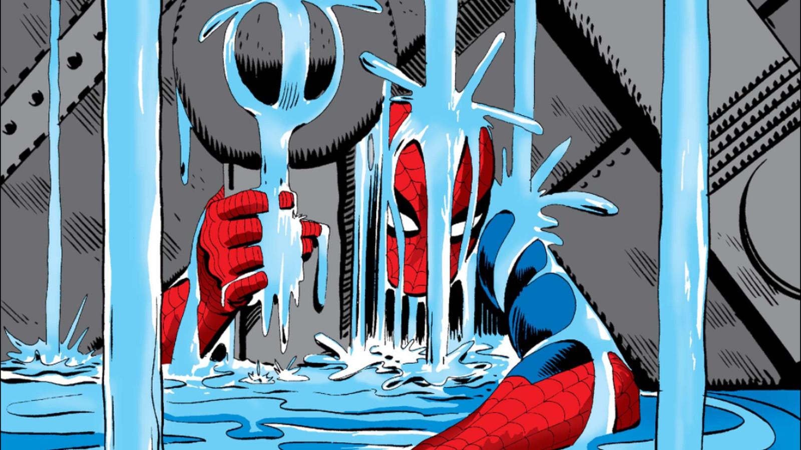 Výsledek obrázku pro spiderman lifting rubble