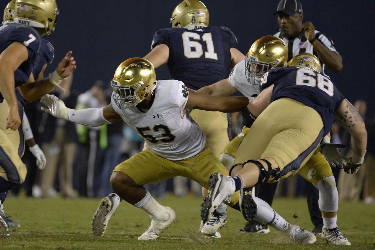 NCAA Football: Navy vs Notre Dame