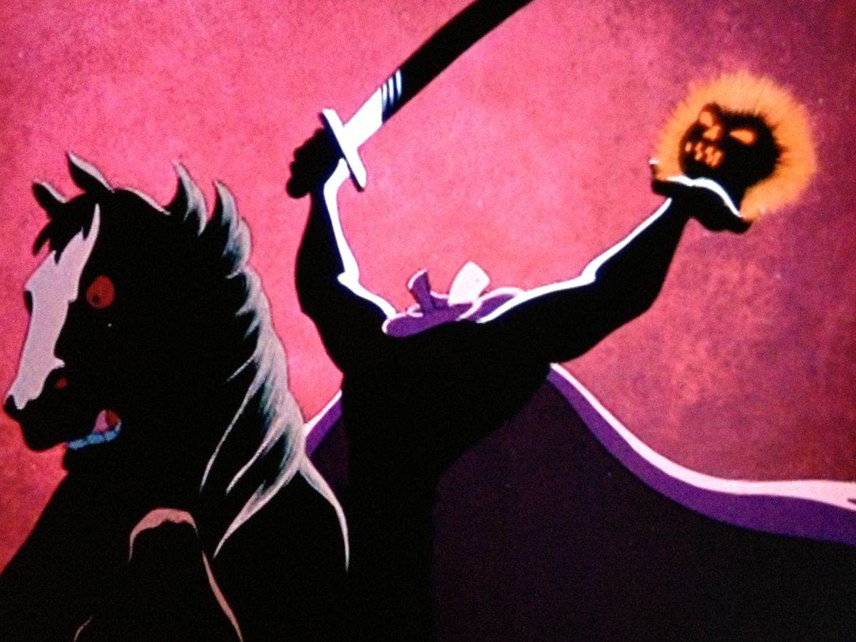The headless horseman in The Adventures of Ichabod and Mr. Toad