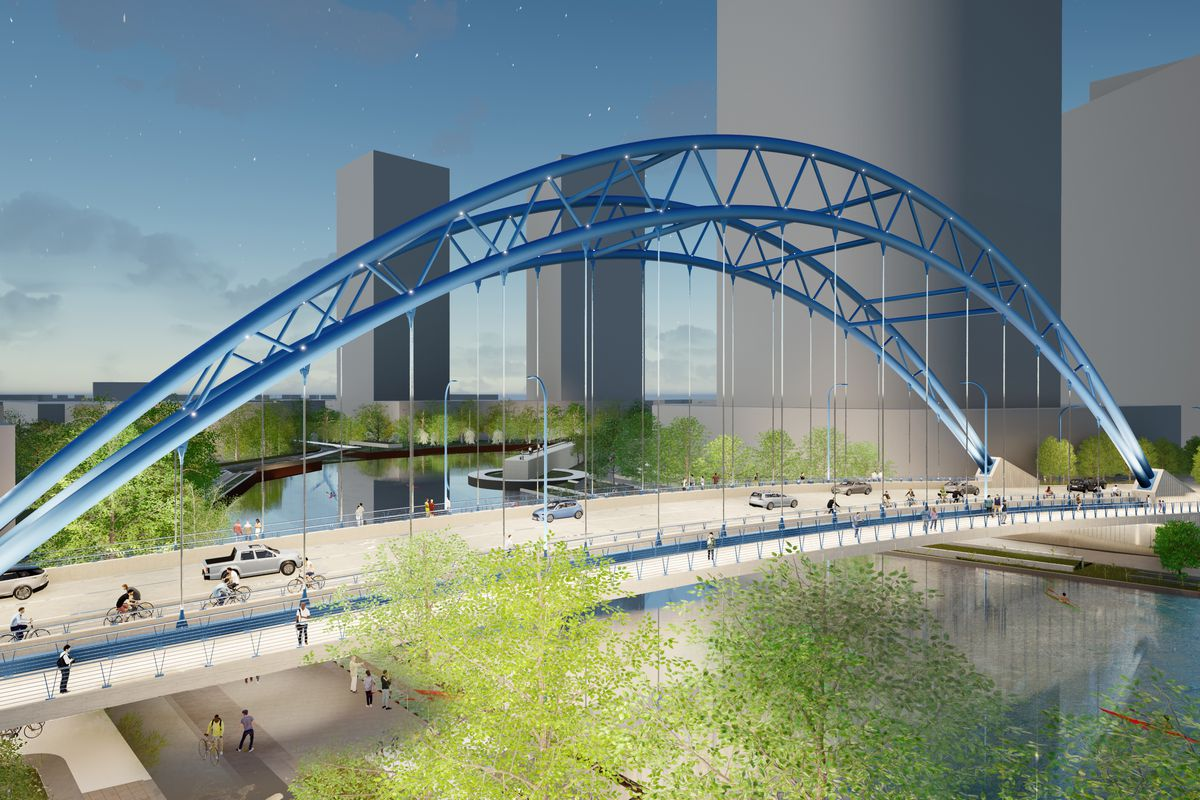 Developer Sterling Bay announced plans Monday for a bridge over the Chicago River that is designed to improve traffic flow and access to open space in its future Lincoln Yards development.