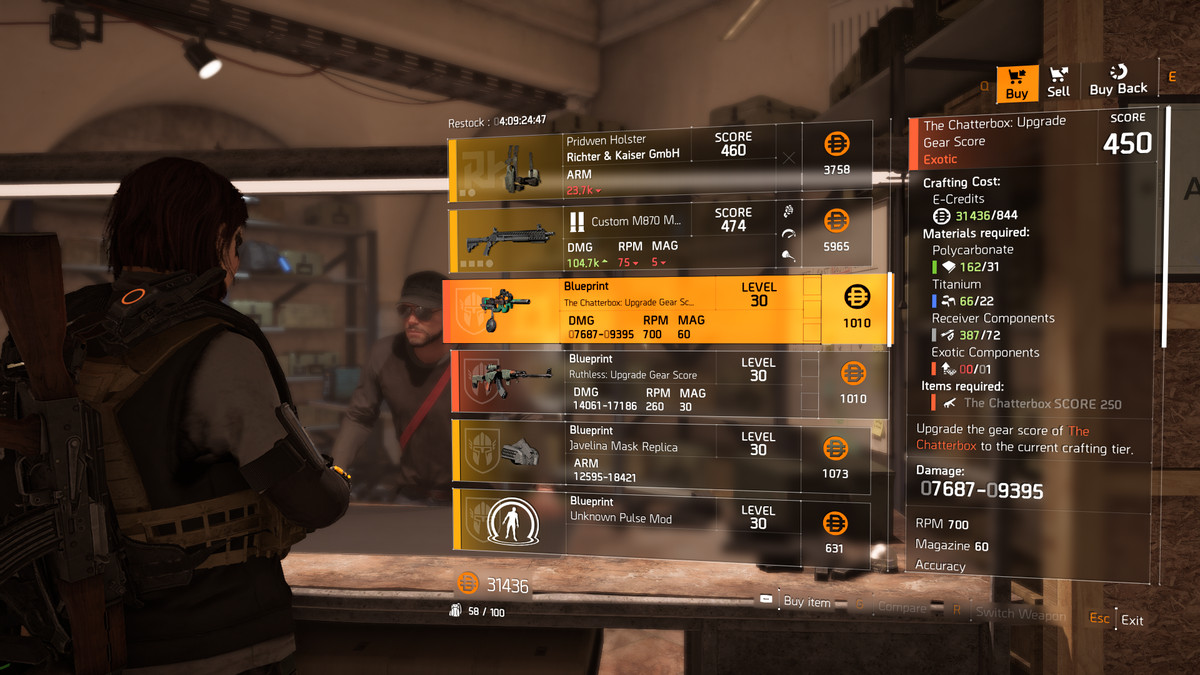 The Division 2 Guide How To Upgrade Exotics Polygon