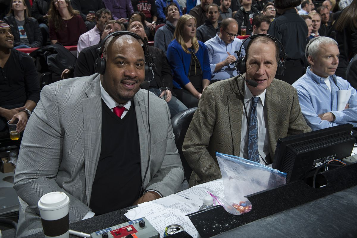 Neil Funk and Stacy King have called Bulls games on TV together since 2008. Funk came aboard on the radio side in 1991.