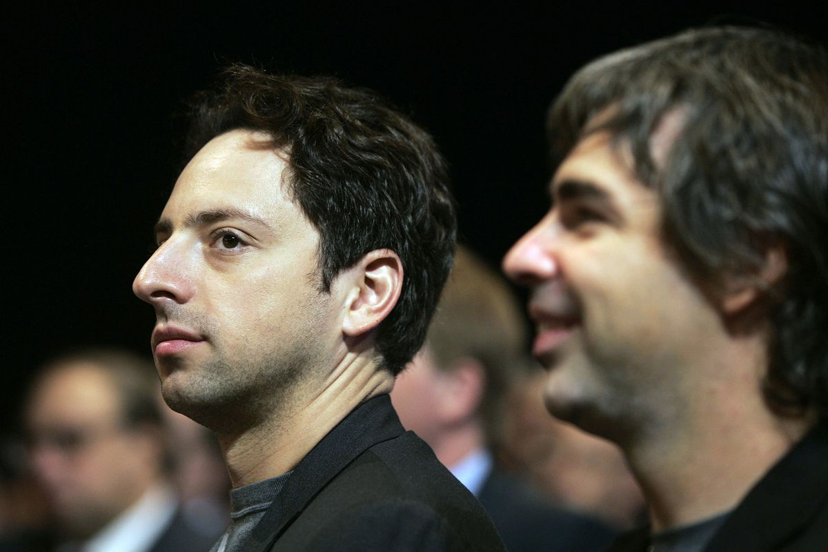 Google founders Sergey Brin and Larry Page in 2006