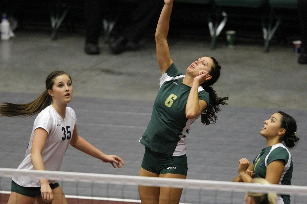 Morgan and Snow Canyon play Friday, Oct. 28, 2011 at Utah Valley University in the 3A State Volleyball championship.