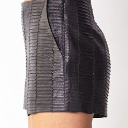 """On The Edge Faux Leather Shorts, <a href=""""http://www.forever21.com/Product/Product.aspx?Br=LOVE21&Category=bottom_shorts&ProductID=2000091033&VariantID="""">Forever 21</a>, $22.80"""