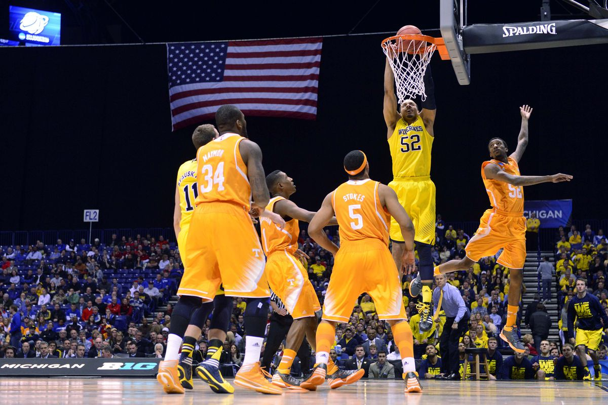 The final tickets to Texas for the Final 4 will be handed out today. The state of Michigan could claim both of them.