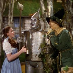 """Dorothy (Judy Garland), the Tin Man (Jack Haley) and the Scarecrow (Ray Bolger) in """"The Wizard of Oz."""""""
