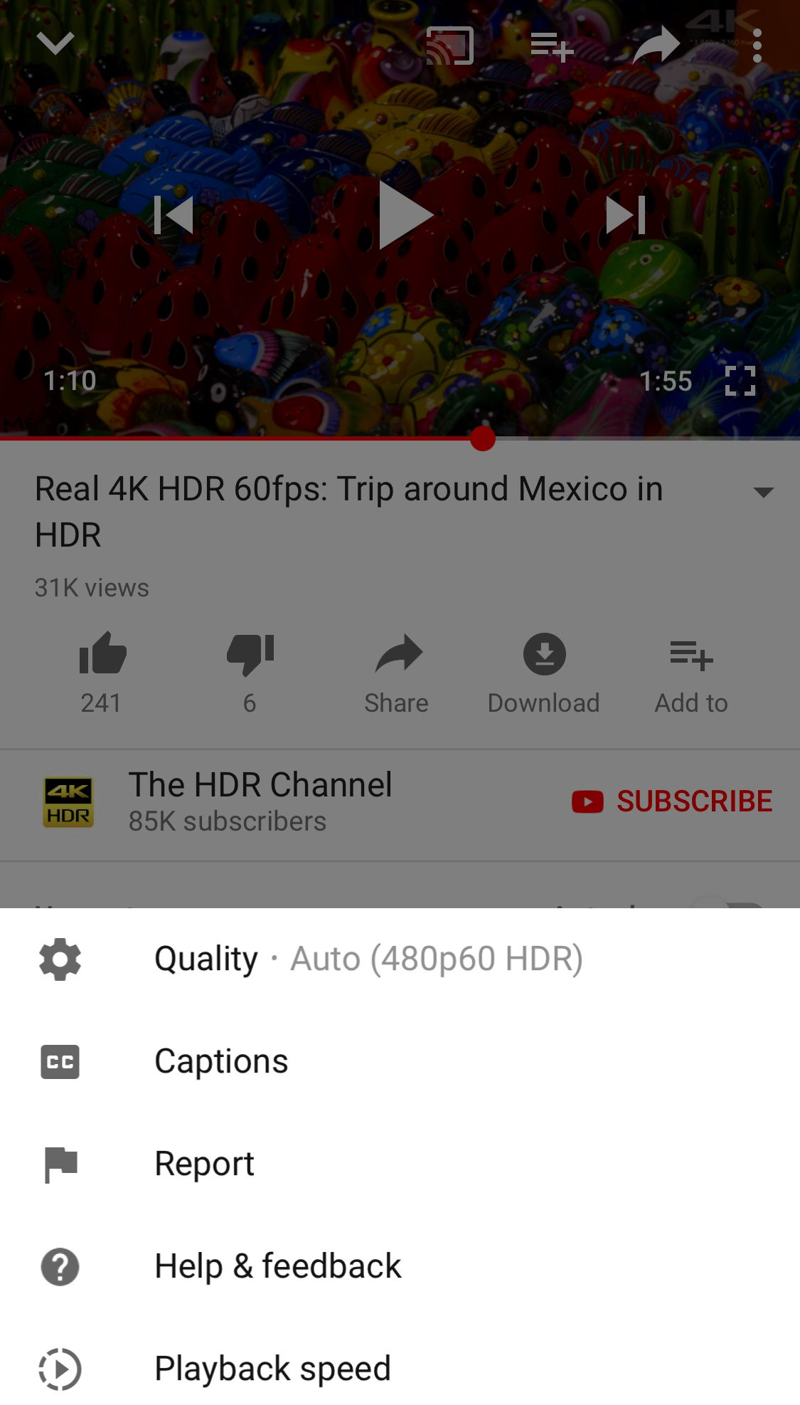 YouTube now supports HDR video on Apple's latest iPhones