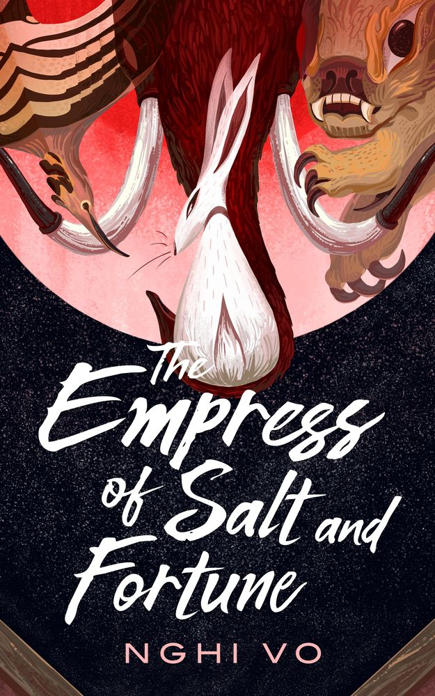 A bunny  on the cover of The Empress of Salt and Fortune by Nghi Vo