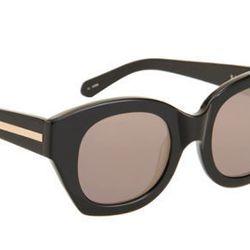 "<b>Karen Walker</b> Soul Club sunglasses, <a href=""http://www.barneys.com/Karen-Walker-Soul-Club/00505015717443,default,pd.html?cgid=women&index=7"">$220</a> at Barneys"