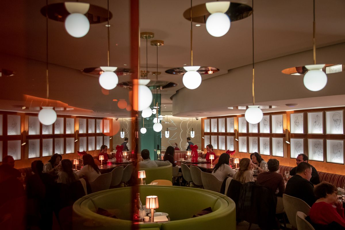 One of the dining rooms at Bluebird London