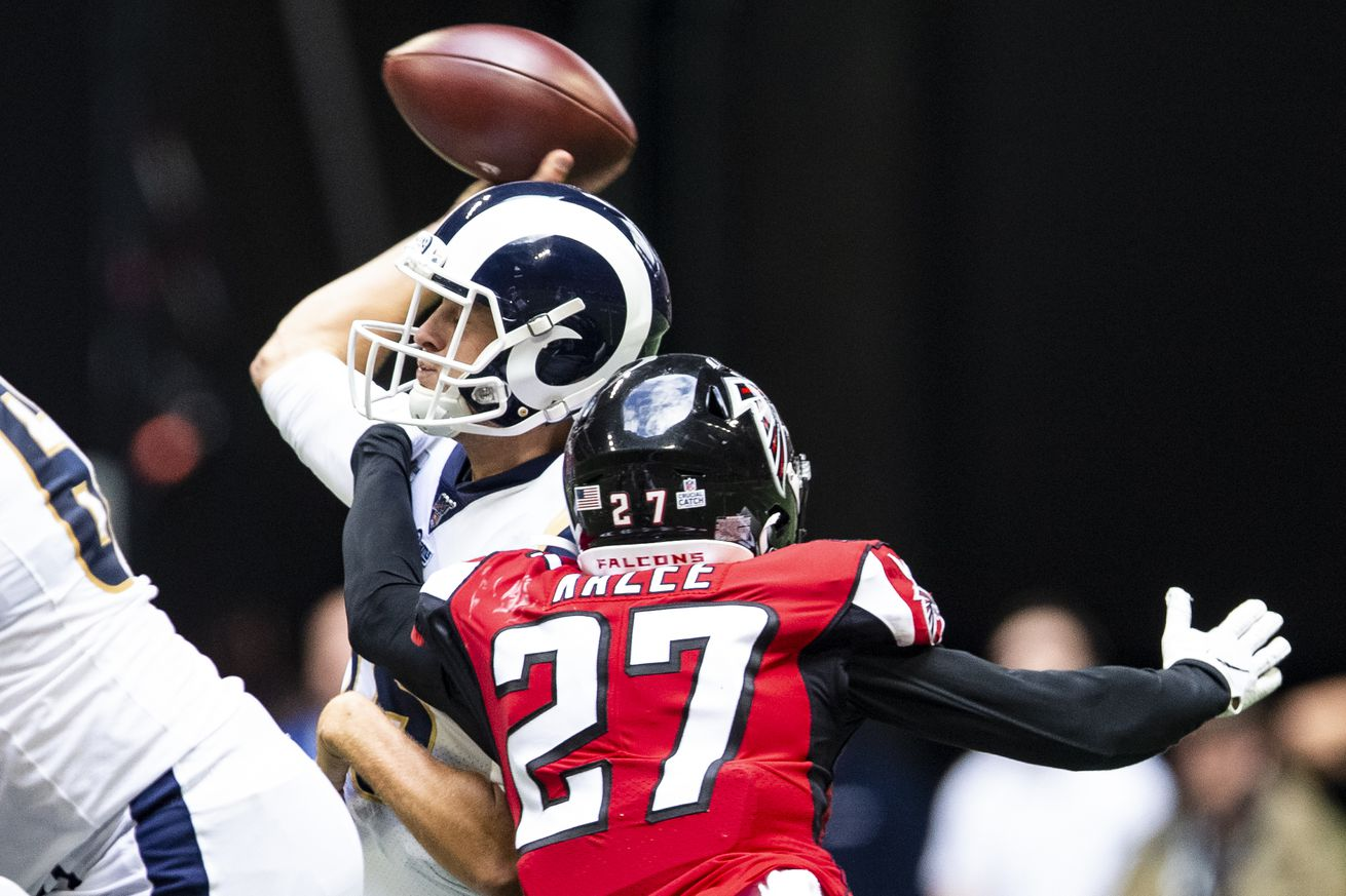 Falcons could become the first team in modern NFL history to go 5 straight games without a sack
