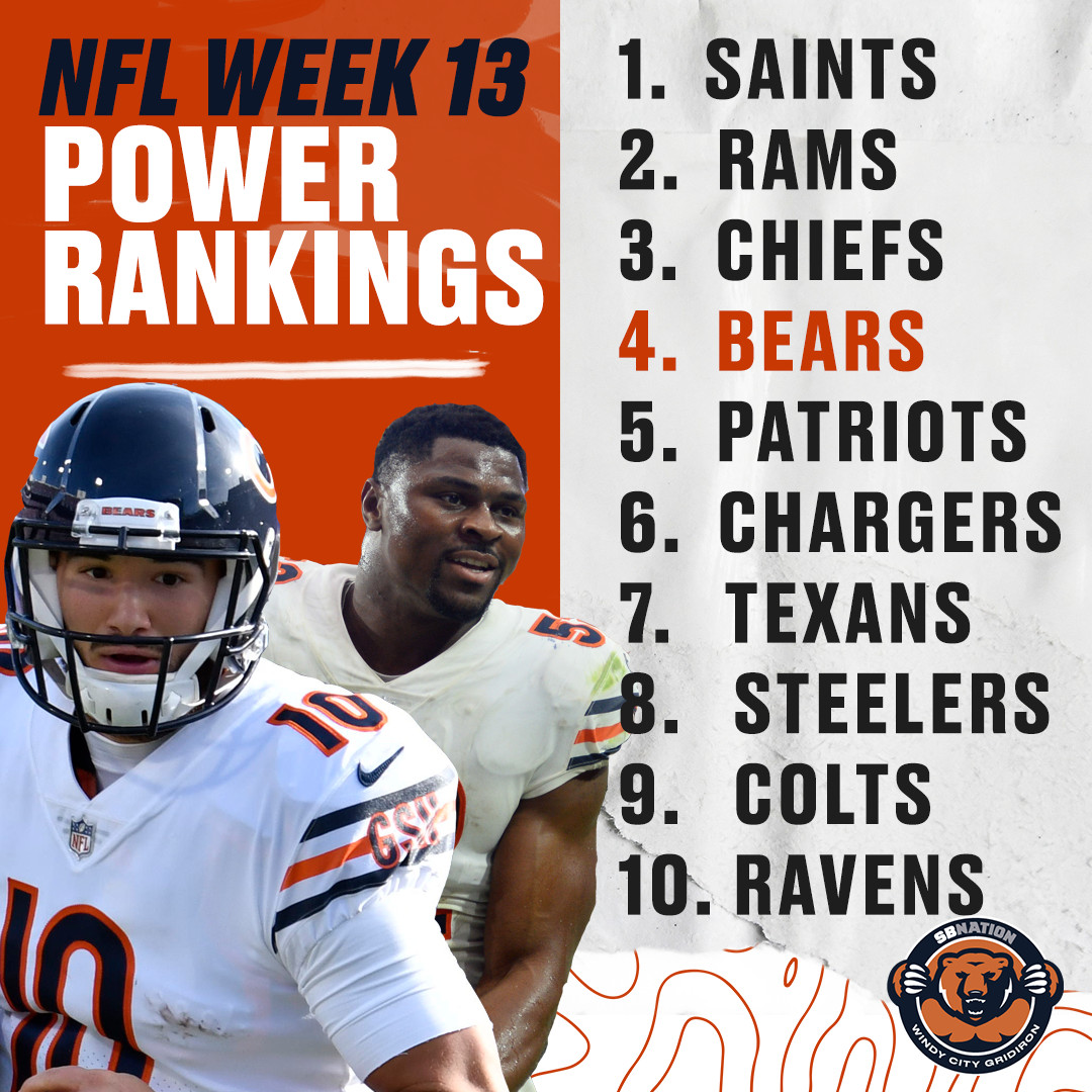 043b3360 NFL Power Rankings: The Chicago Bears have climbed to the top 5 ...