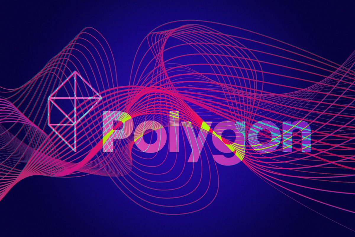 Polygon logo and some cool swirly visuals