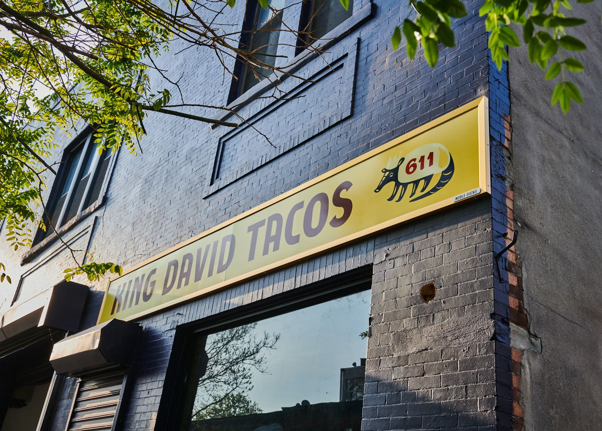 The front signage of King David Tacos