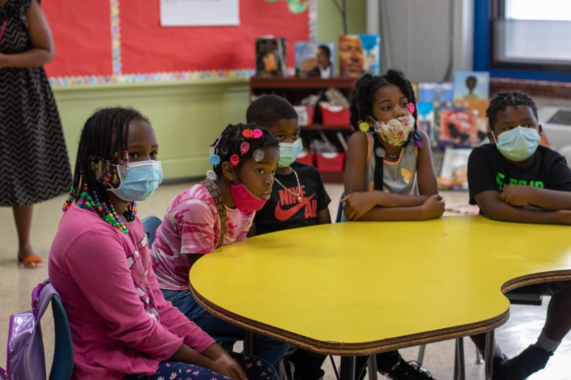 Students at Freedom Schools Literacy Academy in West Philadelphia.