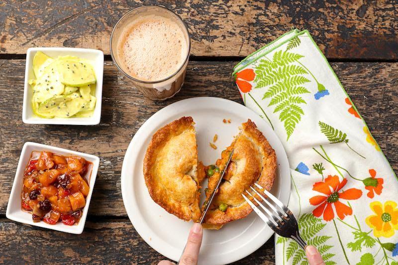 Savory chicken pot pies from Chiya Chai celebrate National Pi Day.