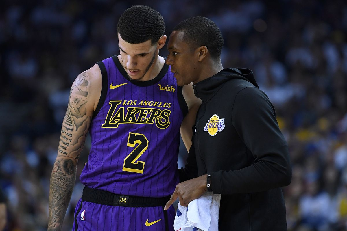 89813ce5520 Lonzo Ball calls Rajon Rondo 'probably one of the smartest dudes I've  talked to' and is thankful for him as a mentor. New ...