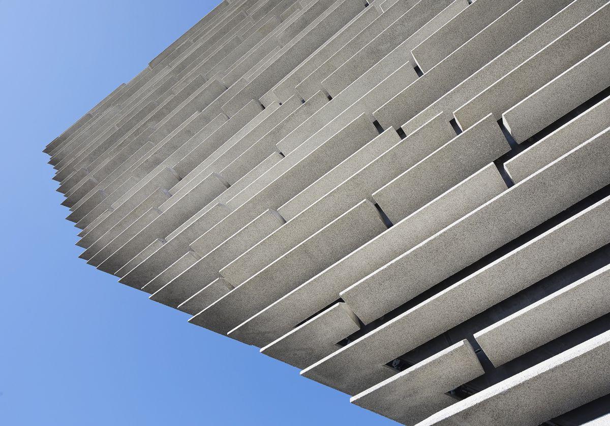 Close up shot of concrete panels