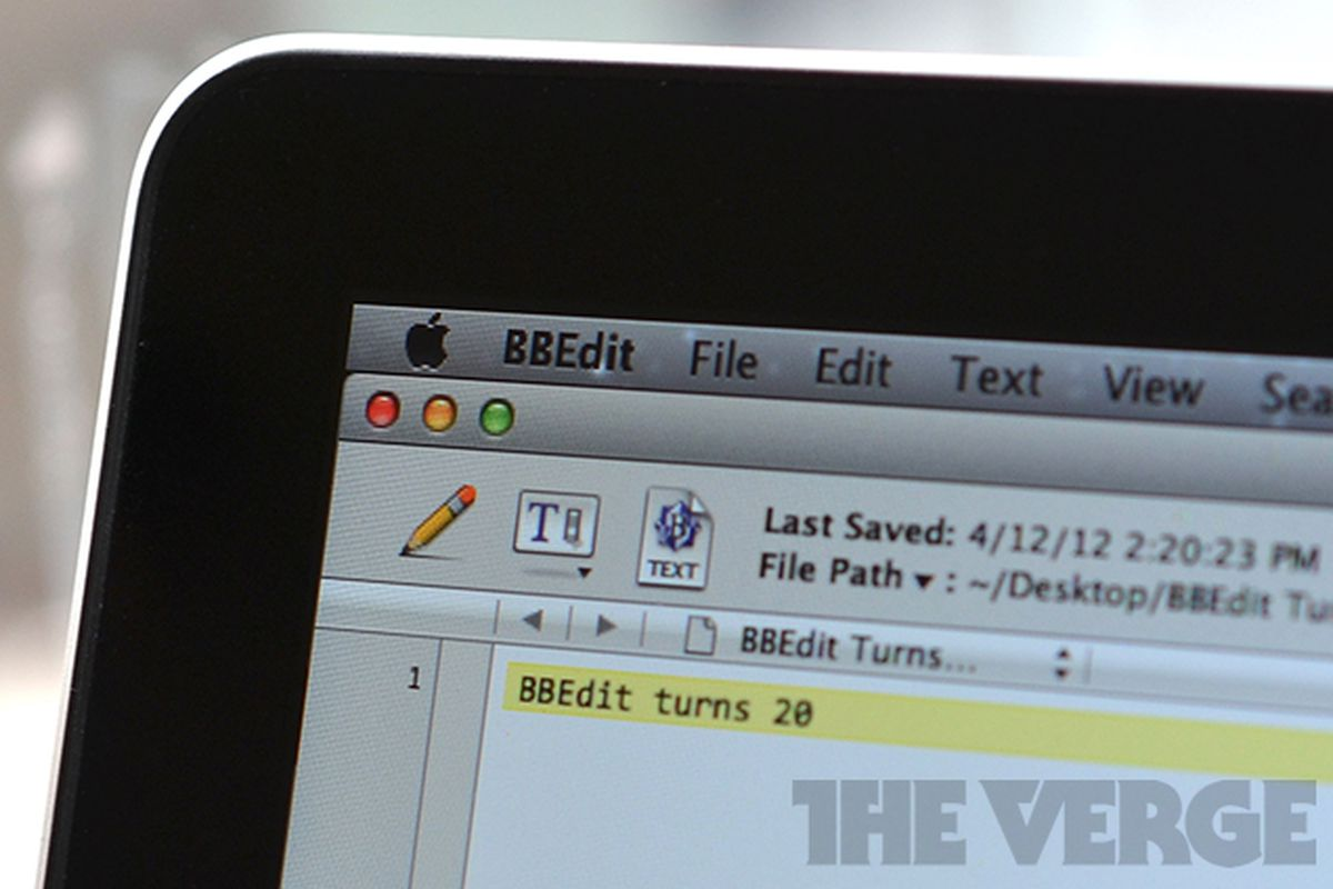 BBEdit Turns 20 Mac OS X