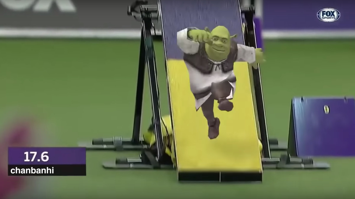 This Video Of Tiny Shrek Running An Agility Course Honestly