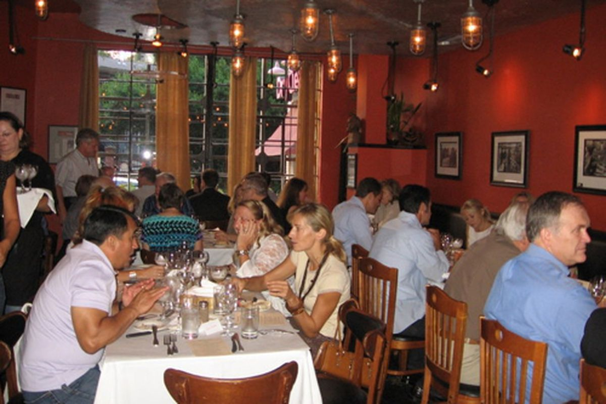 The dining room at Tierra.