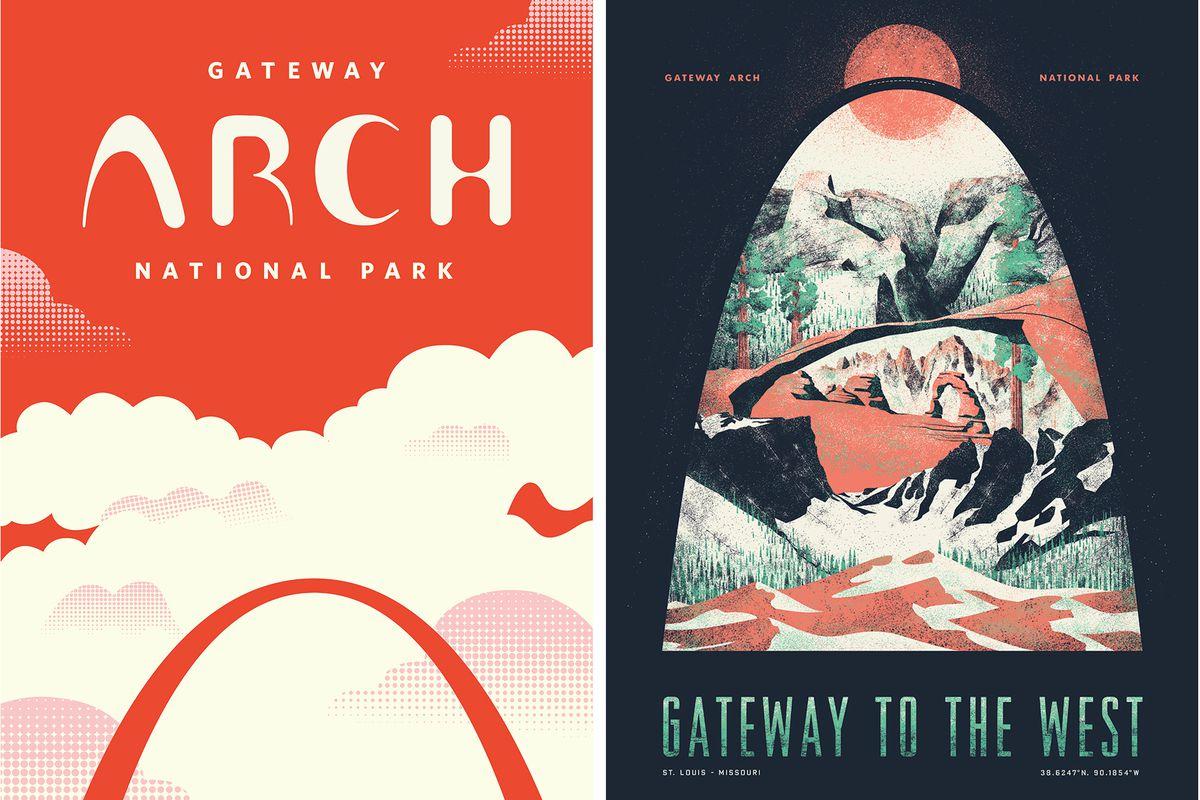 Gateway Arch illustrations