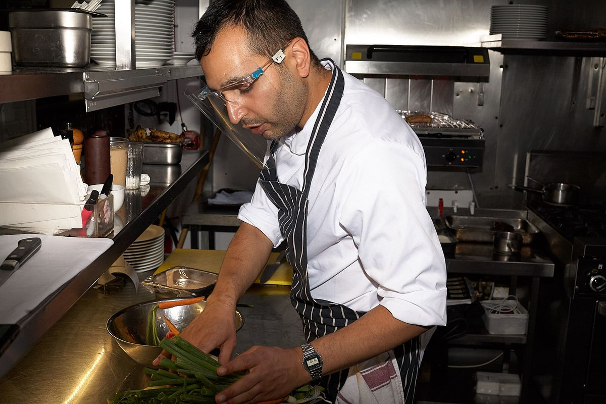 Farokh Talati, head chef at St. John Bread and Wine in Spitalfields, east London. Just one of the restaurants involved in the Eat Out to Help Out scheme, which offered a £10 discount for diners in restaurants across the U.K. in August to help boost economic recovery in hospitality after months of coronavirus (COVID-19) lockdown