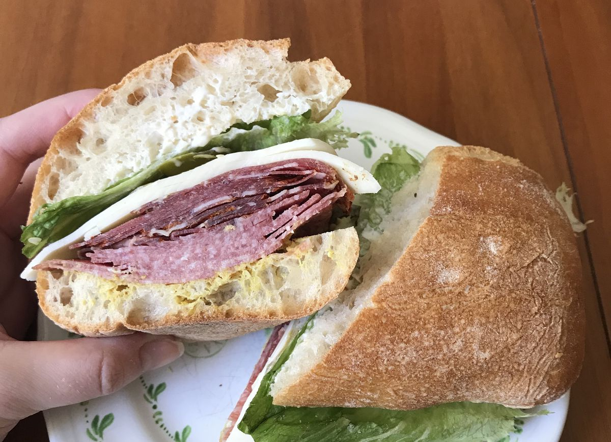 Sandwich from Guerra Quality Meats