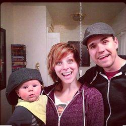 Elaine Bradley with her husband Sebastian and son Bryce.