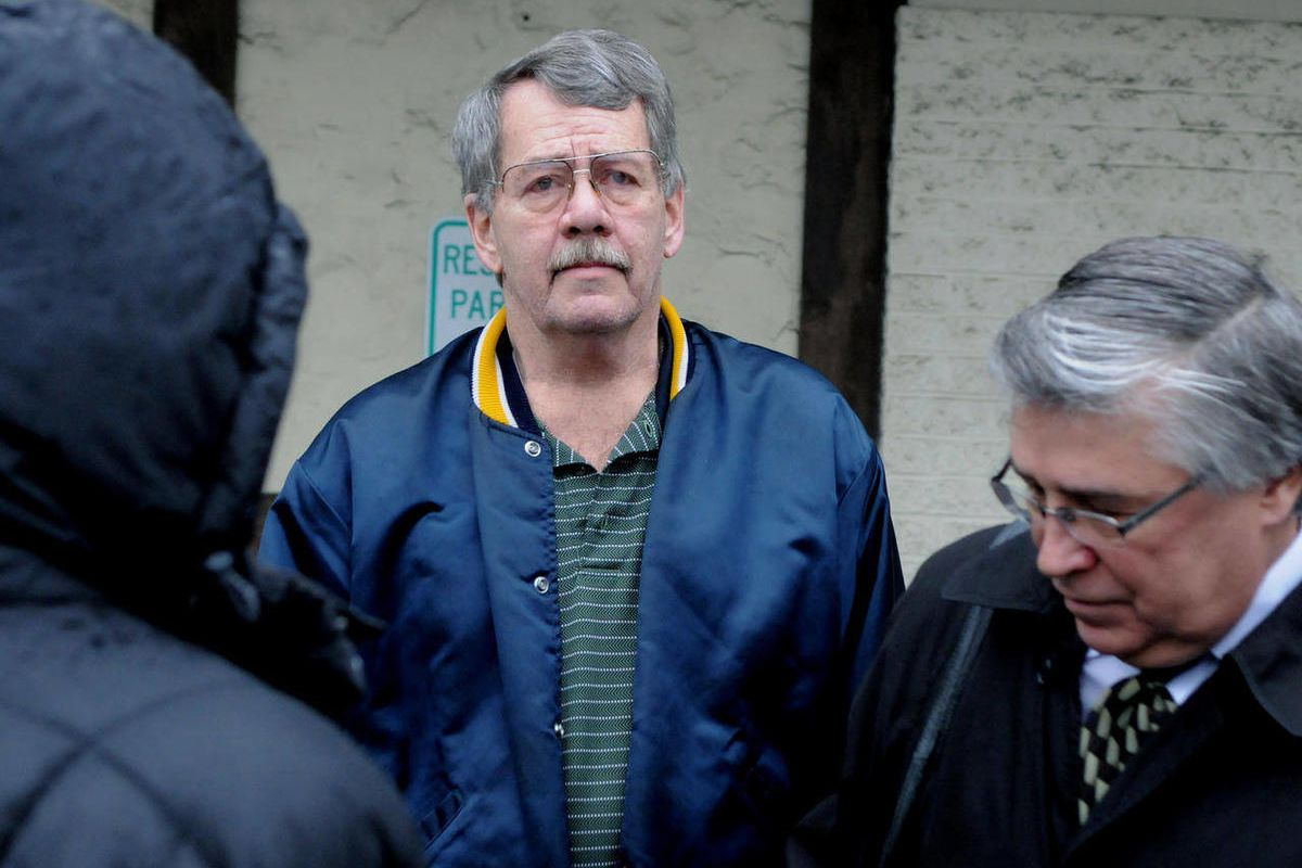 In a Tuesday, Dec.  20, 2011 photo, the Rev. Bartley A. Sorensen, 62, former pastor of St. John Fisher Catholic Church in Churchill, leaves District Judge Thomas Caulfields office in Forest Hills, Pa. Sorenson has been indicted by a federal grand jury on
