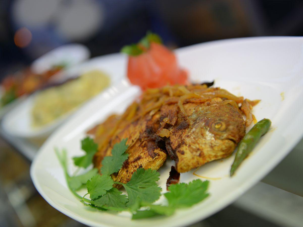 Chicken kabab at Amar Gaon on Brick Lane