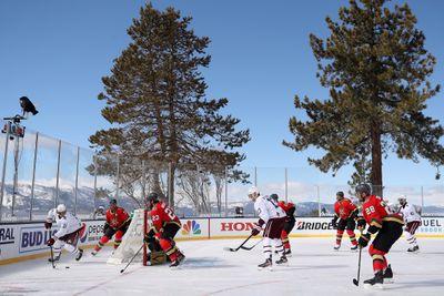 NHL Outdoors At Lake Tahoe - Vegas Golden Knights v Colorado Avalanche