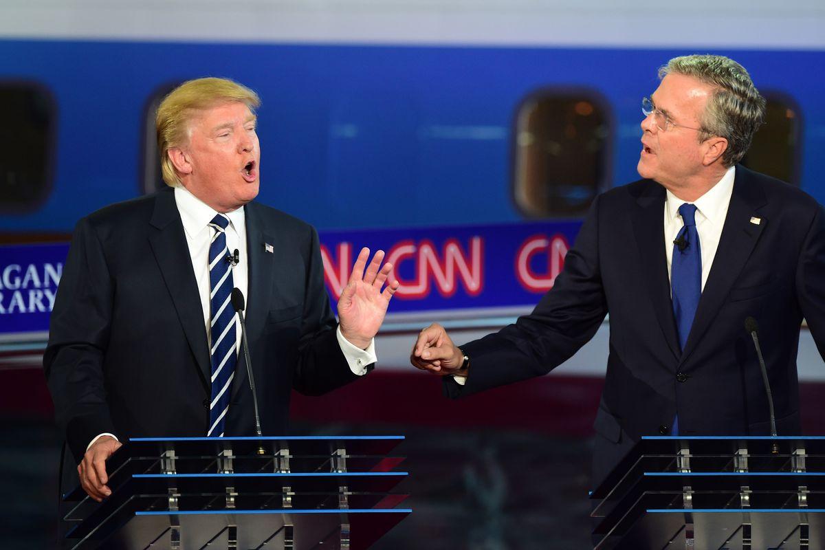 Trump Jeb Bush debate