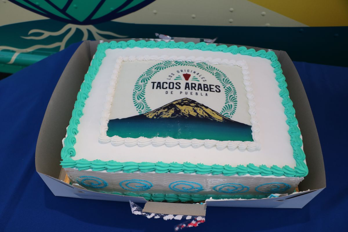 Cake from Tacos Arabes opening party