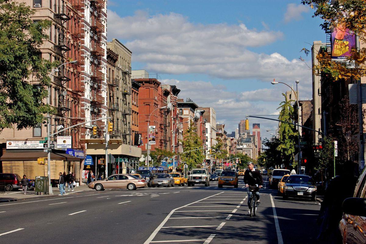 Second Avenue's bike lane.