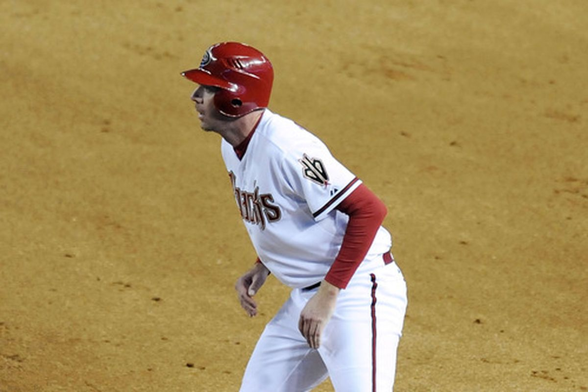 A rare photo of Brad Ziegler on the basepaths!