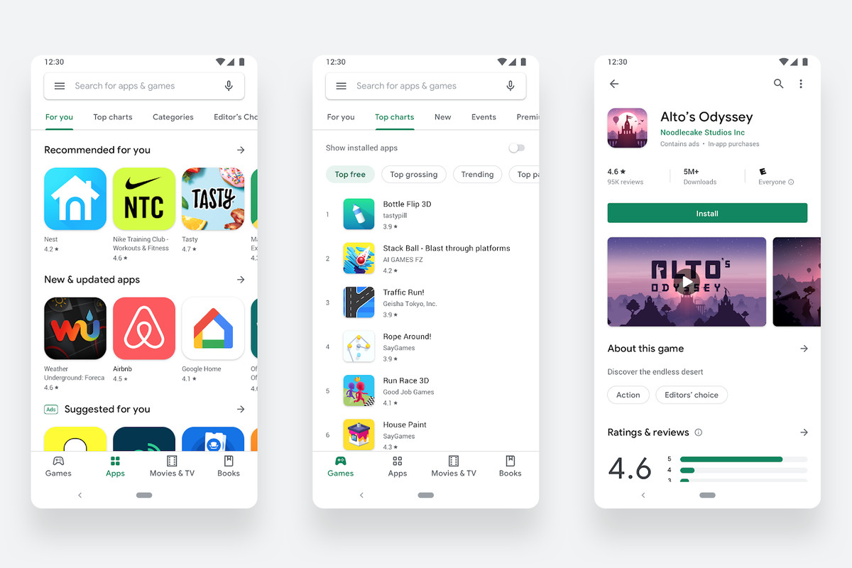 The Google Play S Redesign Is