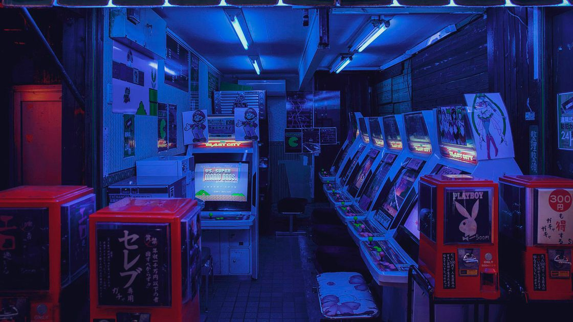 """This picture is actually in Osaka,"" Wong says. ""It's this tiny little arcade in this tiny mall that you just walk past. But I just loved the Sailor Moon arcade machines and Mario Bros. and [the machines are] just on loop, just the audio playing."""