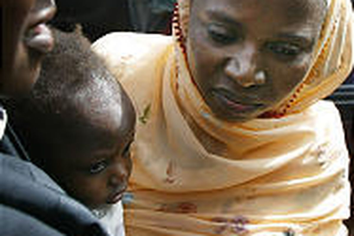 Amina Lawal, with her baby, Wasila, had her conviction overturned in Katsina, Nigeria.