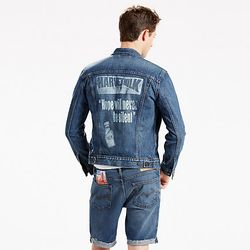 Levi's Pride Collection celebrates gay rights icon Harvey Milk with this jacket.
