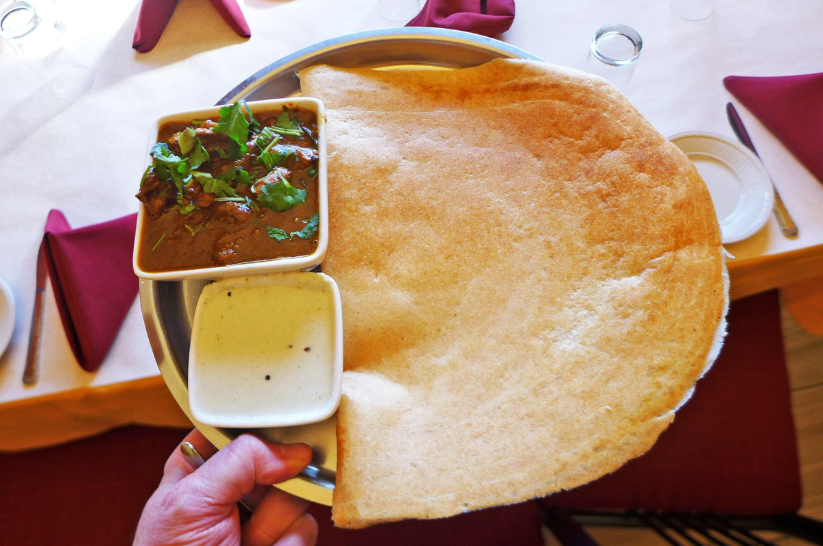Mutton dosa at Southern Spice
