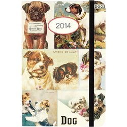 """<a href=""""http://www.paper-source.com/cgi-bin/paper/item/2014-Cavallini-Vintage-Dogs-Weekly-Planner/3400_002/9781619922594.html"""">2014 Cavallini Vintage Dogs Weekly Planner</a>, $14.95 at Paper Source"""