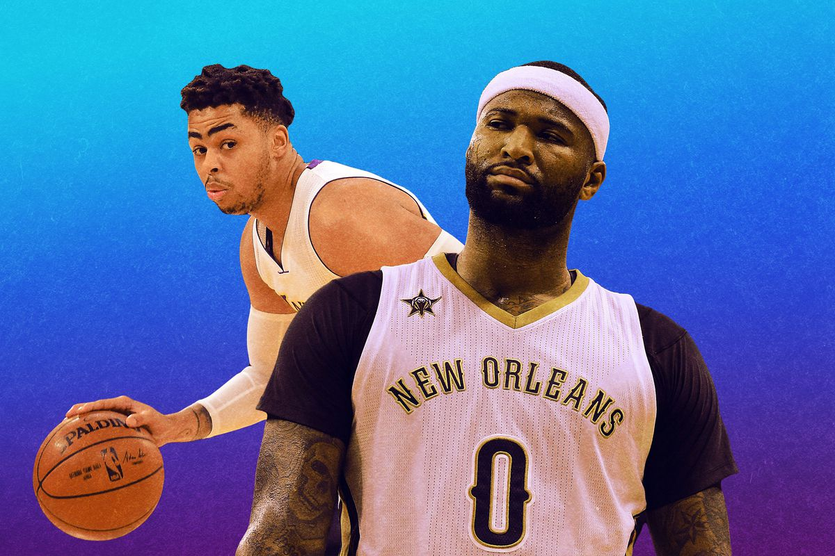 D'Angelo Russell and DeMarcus Cousins