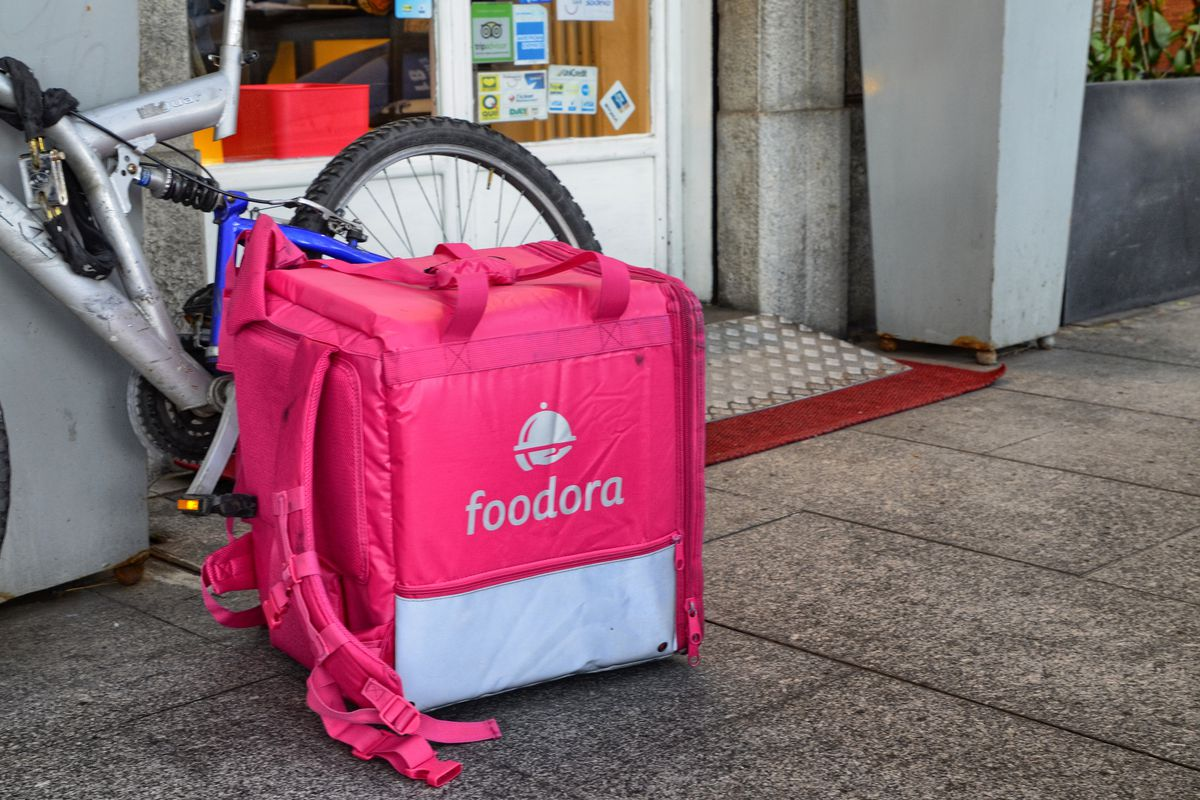 A delivery bag for Foodora