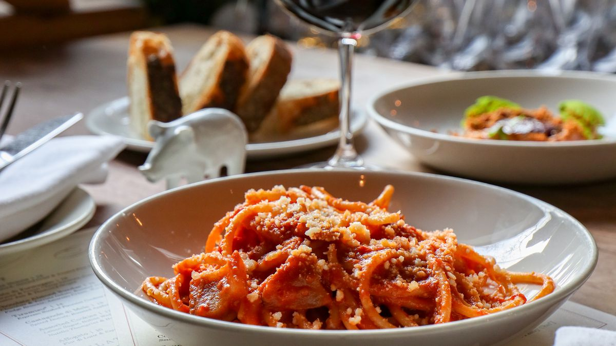 A plate of pasta from Maialino Mare, coming soon to the Thompson hotel in Navy Yard