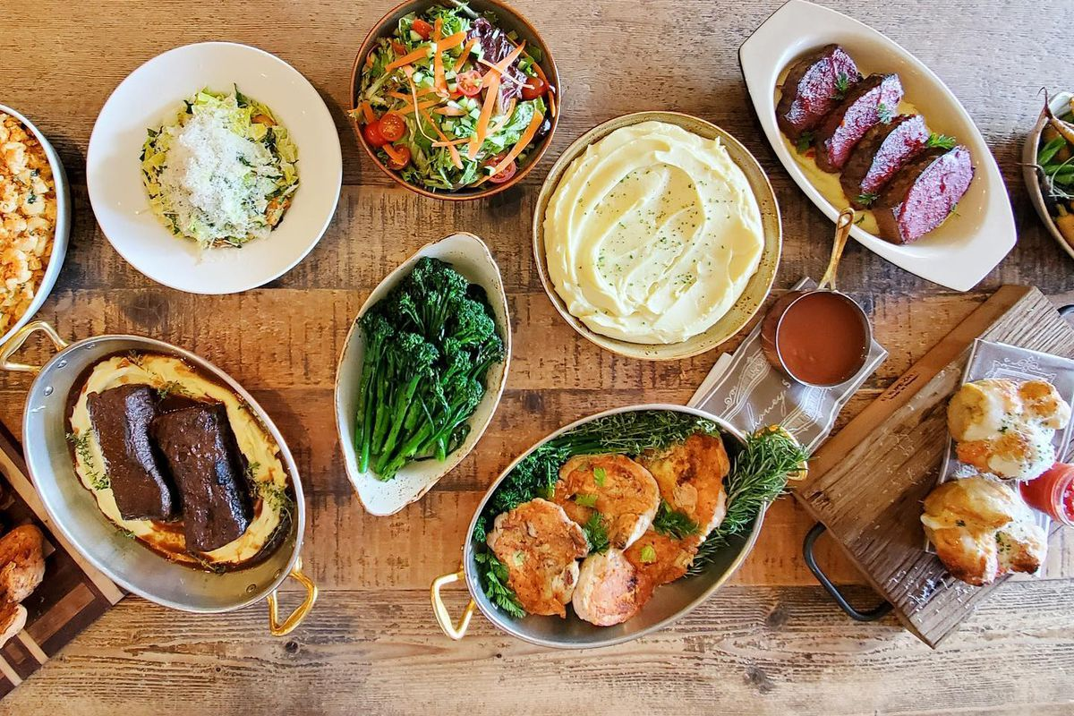 An array of dishes from Honey Salt