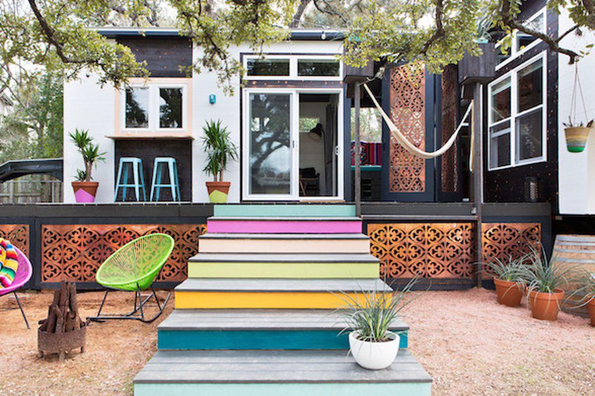 ravishing tiny trailer house. Ravishing Tiny Home in Austin is Part Midcentury  Boho Curbed