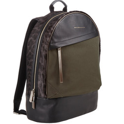 Westbrook XO Barneys New York X Want Les Essentiels de la Vie canvas, leather, & haircalf kastrup backpack, $449 (from $1,125)