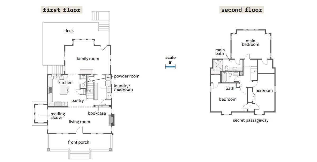 Spring 2021, House Tour: Liverman, floor plans